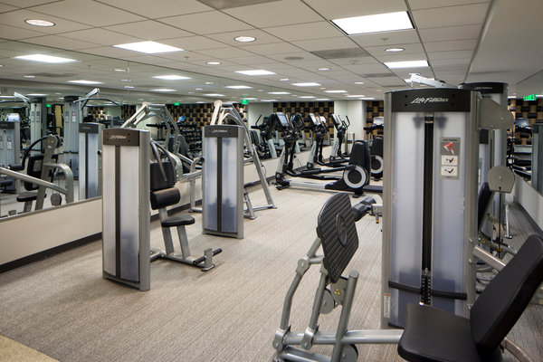 fitness center at 7th Flats