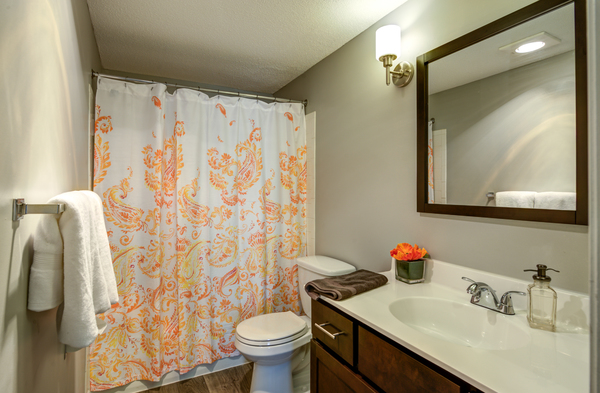 bathroom at Glen at Burnsville Apartments