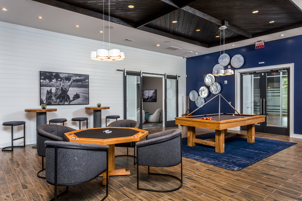 game room at Element Barclay Apartments