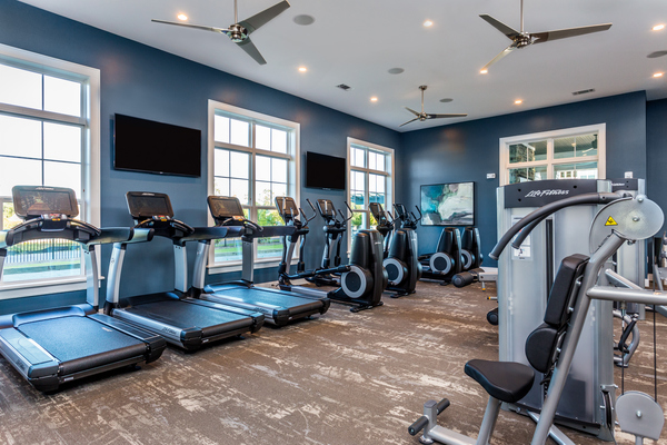 fitness center at Element Barclay Apartments