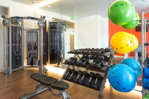 fitness center at Ballard On 20th Apartments