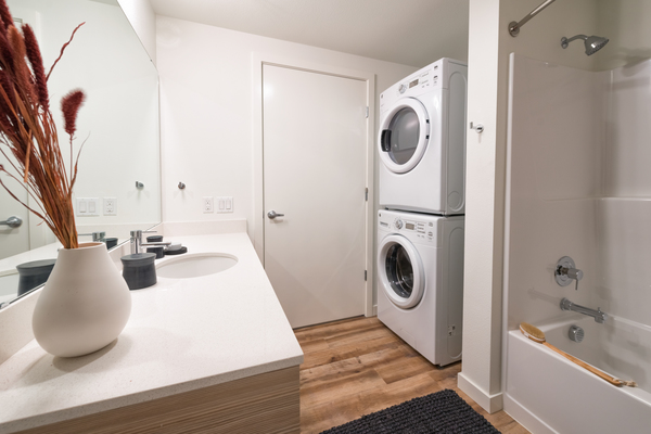 laundry room at Ballard On 20th Apartments
