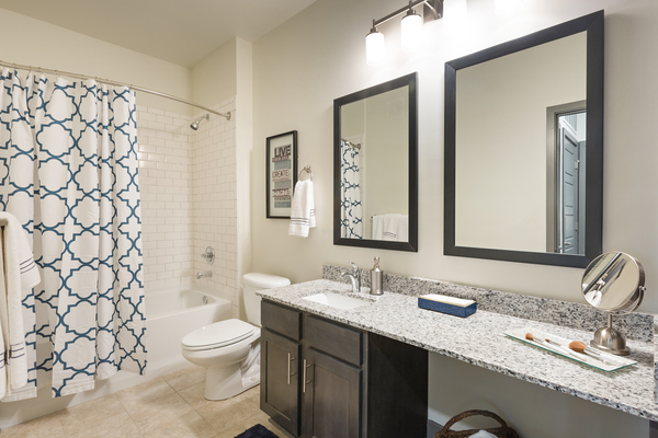 bathroom at Vinings of Hurstbourne Apartments