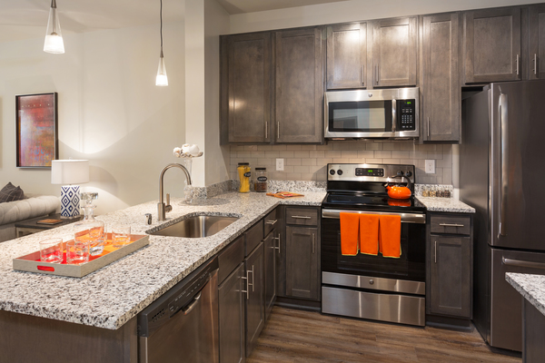 kitchen at Vinings of Hurstbourne Apartments