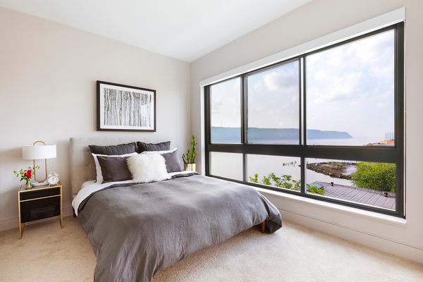 bedroom at River Club at Hudson Park Apartments
