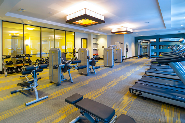 fitness center at Virage Luxury Apartments