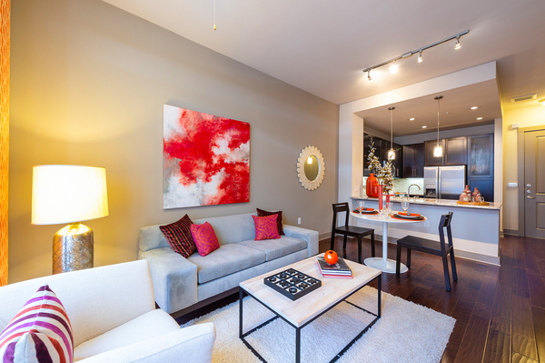 living room at Virage Luxury Apartments