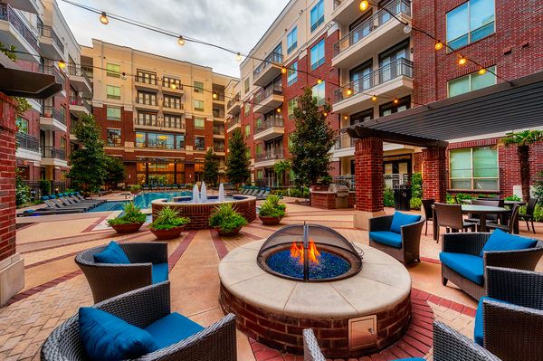 fire pit at Virage Luxury Apartments