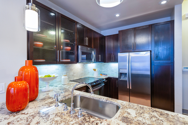 kitchen at Virage Luxury Apartments