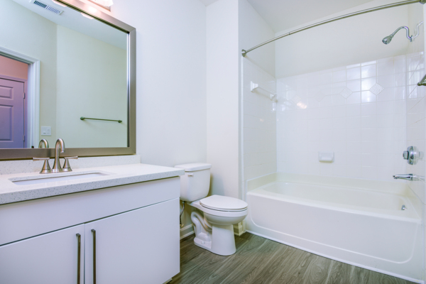 bathroom at Berkeley Place Apartments