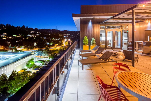 rooftop deck at Storyline Apartments
