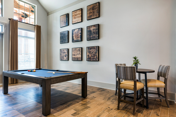 game room at Elan Williamsburg Apartments