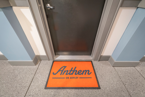 door mat at Anthem on Ashley Apartments