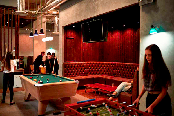 game room at Chapter Islington