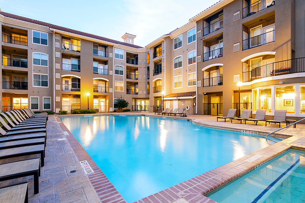 pool at The Suites at Overton Park Apartments