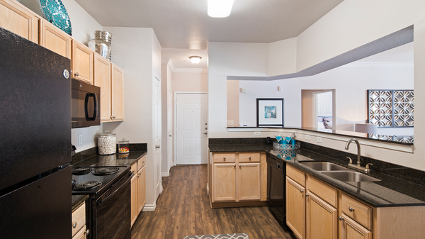 kitchen at Signature Ridge Apartments