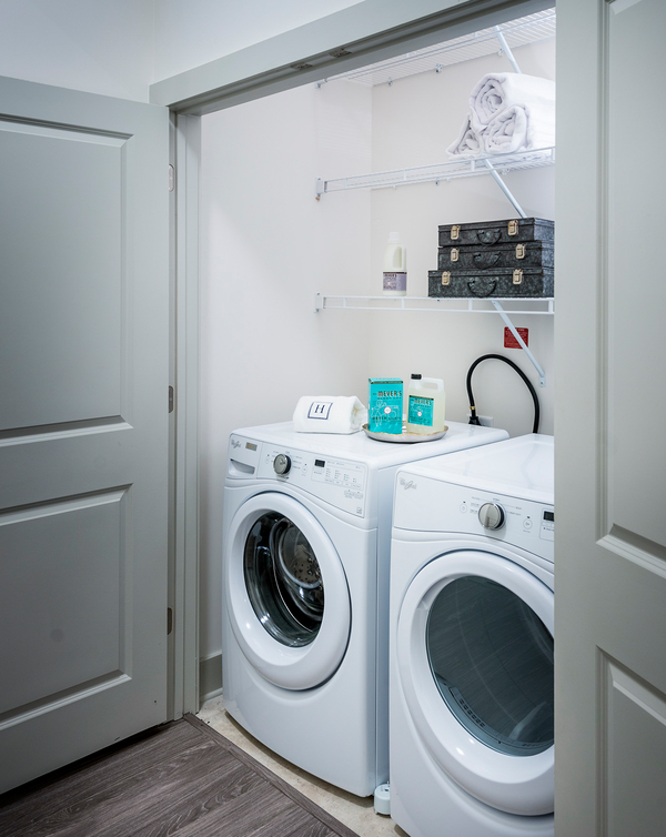 laundry room at Hanover East Paces