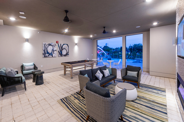 game room at Encore Montrose Apartments