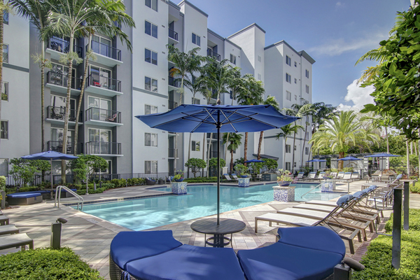 pool at Solmar on Sixth Luxury Apartments