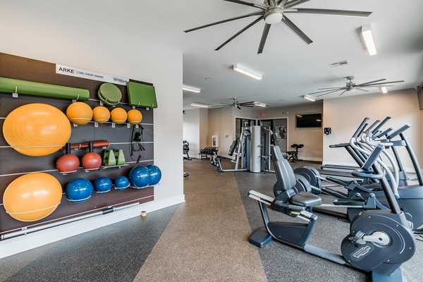 fitness center at Citiscape at Essen Apartments