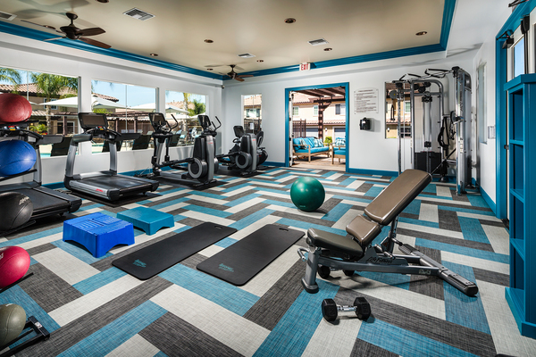 fitness center at Townhomes at Lost Canyon Apartments