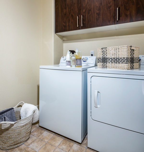 laundry room at Townhomes at Lost Canyon Apartments