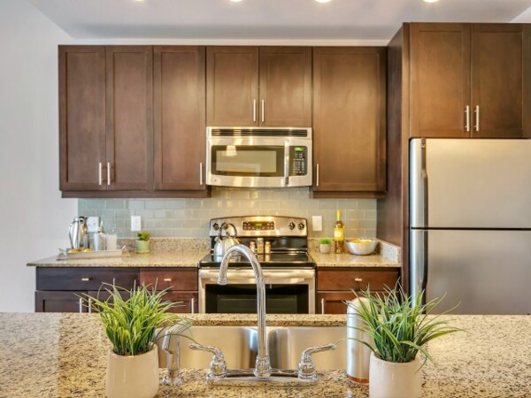 kitchen at Gallery at Turtle Creek Apartments