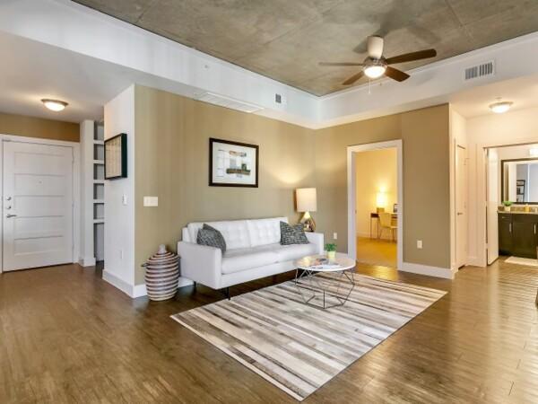 living room at Gallery at Turtle Creek Apartments