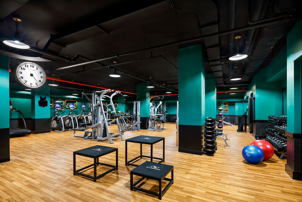 fitness center at Henry Hall Apartments