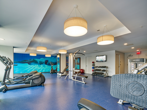 fitness center at VINE Apartments