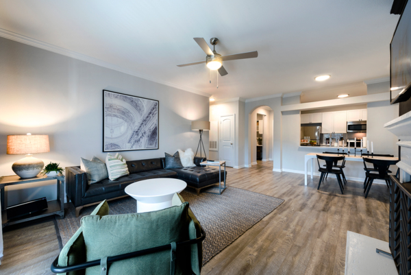 living room at Ashton at Dulles Corner Apartments