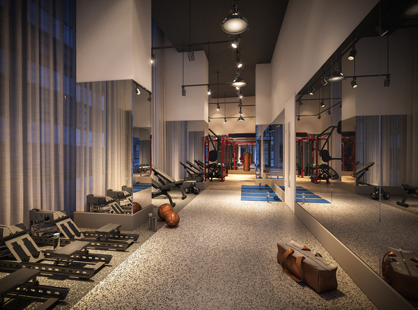 fitness center at 19 Dutch Apartments