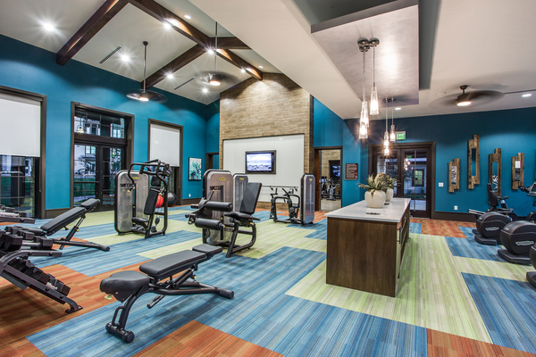 fitness center at The Michael at Presidio
