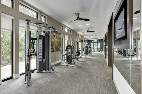 fitness center at Novus Odenton Apartments