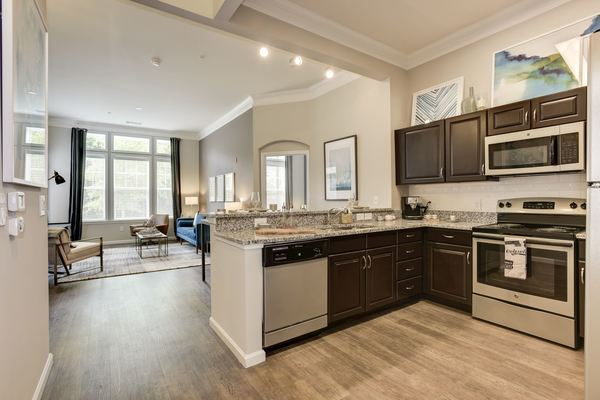 kitchen at Novus Odenton Apartments