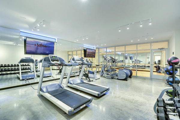 fitness center at NoLo Flats