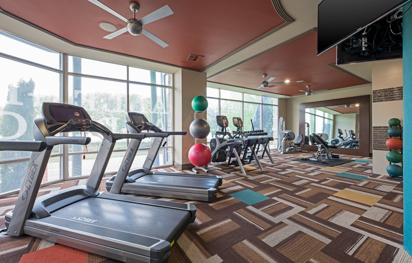 fitness center at Allegro Apartments
