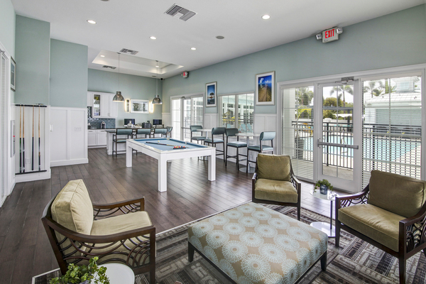 game room at Bridges at Kendall Place Apartments