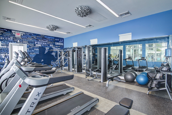 fitness center at Bridges at Kendall Place Apartments