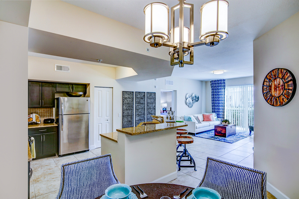 kitchen at Bridges at Kendall Place Apartments