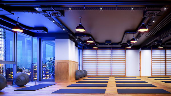 yoga studio at Sailmakers (Ostro Tower)