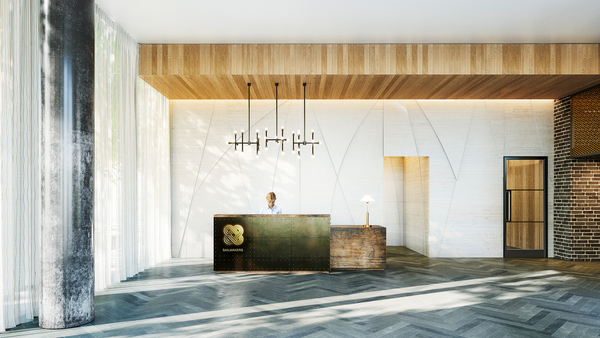front lobby at Sailmakers (Ostro Tower)