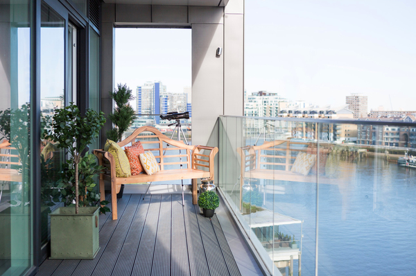 patio/balcony at Fulham Riverside