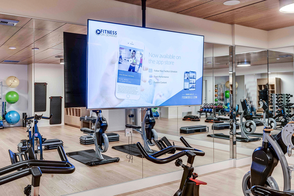 fitness center at Ascent South Lake Union Apartments