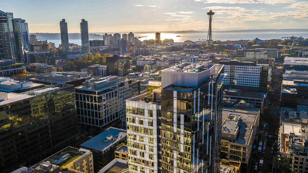 view at Ascent South Lake Union Apartments