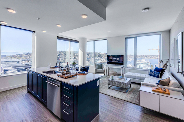 kitchen at Ascent South Lake Union Apartments