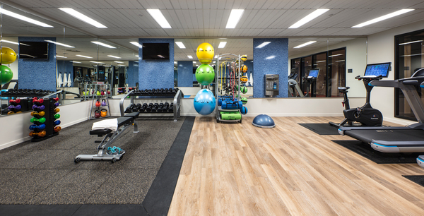 fitness center at Zig Apartments