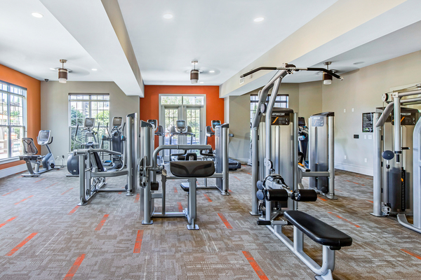 fitness center at Whitehall Parc Apartment Homes