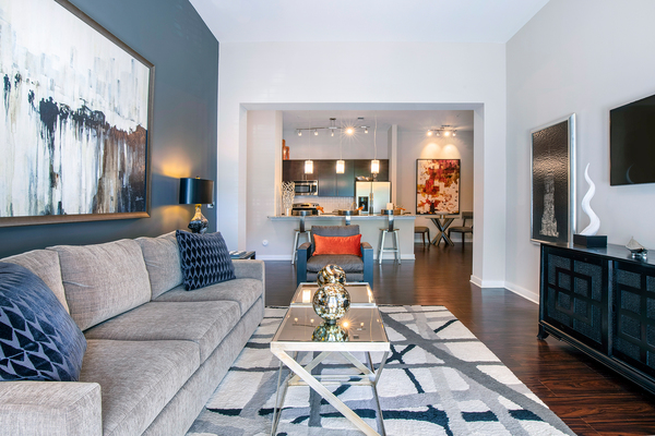 living room at Whitehall Parc Apartment Homes