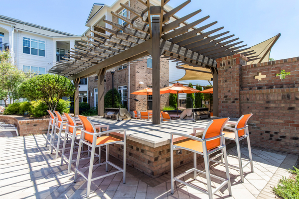 grill area at Whitehall Parc Apartment Homes